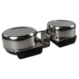 Stainless Steel Compact Twin Horn