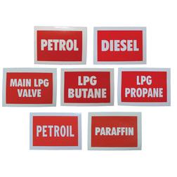 Boat Fuel Labels
