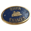 River Thames Brass Plaque