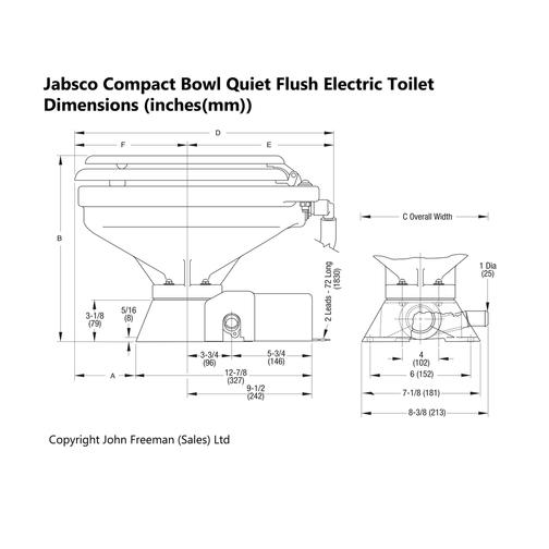 Jabsco Electric Marine Toilet