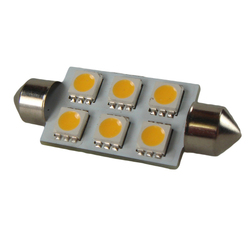 SMD LED 10-30v Festoon Sv8.5 Warm White Bulb