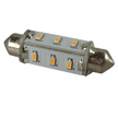 SMD LED 10-30v 37mm Cylinder Festoon Sv8.5 Warm White Bulb