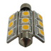 SMD LED 10-30v Festoon Sv8.5 Warm White Butterfly Bulb
