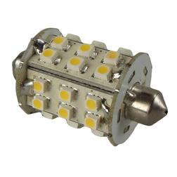 SMD LED 10-30v Wide Cylinder Festoon Sv8.5 Warm White Bulb