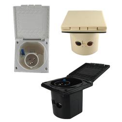 Mains IP44 3 Pin Flush Mount Plugs