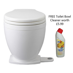 Jabsco Lite Flush Toilet with Foot Switch with Free Toilet Bowl Cleaner