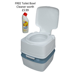 Royal Potti Portable Toilet - 21L with FREE Toilet Cleaner