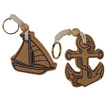 Nautical Cork Keyrings