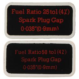 British Seagull Outboard QB Series Fuel Tank Fuel Ratio Labels