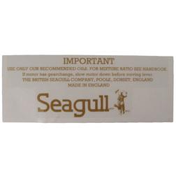British Seagull Outboard Square Fuel Tank Label