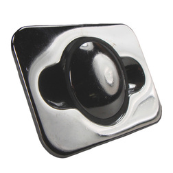 Rectangular Concealed Fitting Chrome Lifting Button