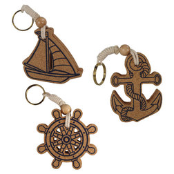 Nautical Cork Keyrings