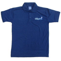 British Seagull Navy Blue Jersey Polo