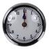 Aqua Marine 70mm Chrome Clock