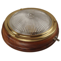 LED Large Teak Switched Cabin Light