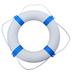 Blue and White Lifebuoy Ring - 65cm