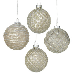 Champagne Glass Christmas Bauble Set