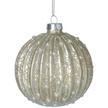Champagne Pearl Glass Christmas Bauble
