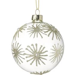 Christmas Star Clear Glass Christmas Bauble