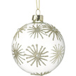 Christmas Star Clear Glass Christmas Bauble