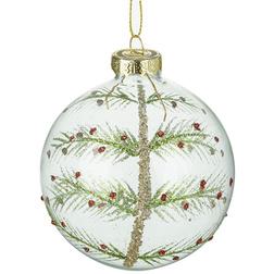 Christmas Tree Clear Glass Christmas Bauble