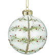 Christmas Tree Clear Glass Christmas Bauble