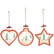 Festive Christmas Scene Wooden Hanger Set