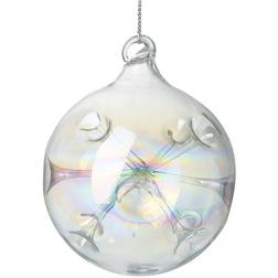 Iridescent Tubular Glass Christmas Bauble