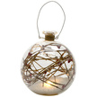LED Snow-filled Berry Twig Christmas Bauble