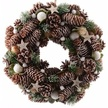 Snow Dusted Pinecone Christmas Wreath