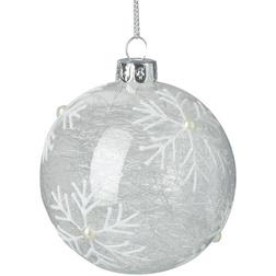 Snowflake Spun-glass Christmas Bauble
