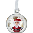 Vintage Glass Santa Christmas Bauble