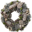 White Berry Pinecone Christmas Wreath