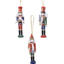 Wooden Nutcracker Christmas Hanger Set