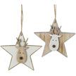Wooden Reindeer Star Christmas Hangers