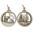 Christmas Wildlife Scene Wooden Bauble Hanger Set