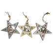 Christmas Wildlife Scene Wooden Star Hanger Set