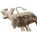 Faux Fur Wooden Reindeer Christmas Hanger Close Up