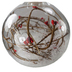 LED Snow-filled Berry Twig Christmas Bauble Close Up
