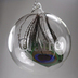 Personalised Peacock Feather Glass Christmas Bauble Claire