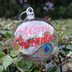 Personalised Peacock Feather Glass Christmas Bauble Merry Christmas