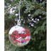 Personalised Peacock Feather Glass Christmas Bauble Merry Christmas Natalie Hanging