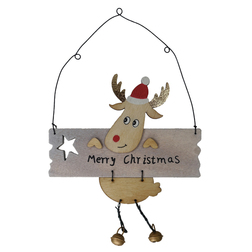 Red Nose Reindeer Merry Christmas Sign