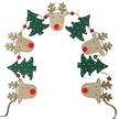 Red Nose Reindeer Wooden Bunting