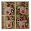Red Nose Reindeer Wooden Hangers