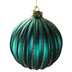 Turquoise Jewel Glass Christmas Bauble Set Round Bauble
