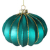 Turquoise Jewel Glass Christmas Bauble Set Teardrop Bauble