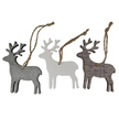 Wooden Reindeer Christmas Hanger Set