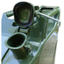 Green Metal 20 Litre Petrol Jerry Can with Cap Open