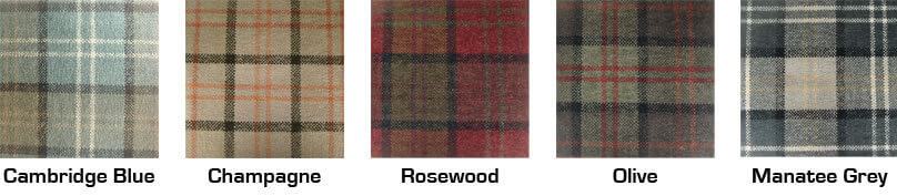The Retro Tartan Look - Choose from 5 colours in this range.